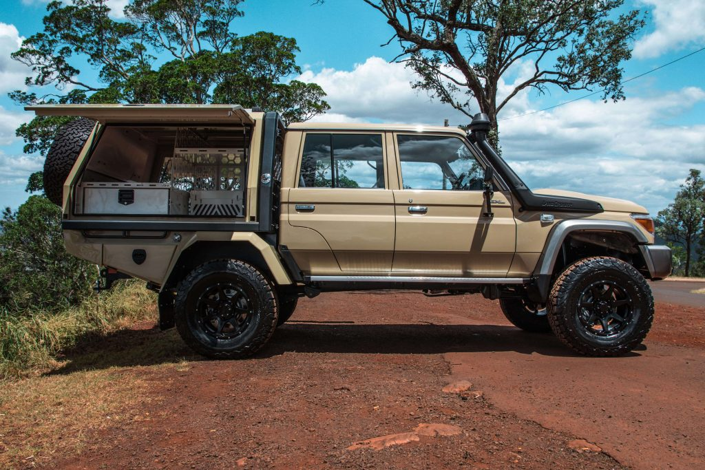 All sales enquiries  please call our team on (07) 4632 9782 for price and any additional questions regarding the vehicle or build. & 4x4 Custom Project Builds | LandCruiser VDJ79 with Portal Axles